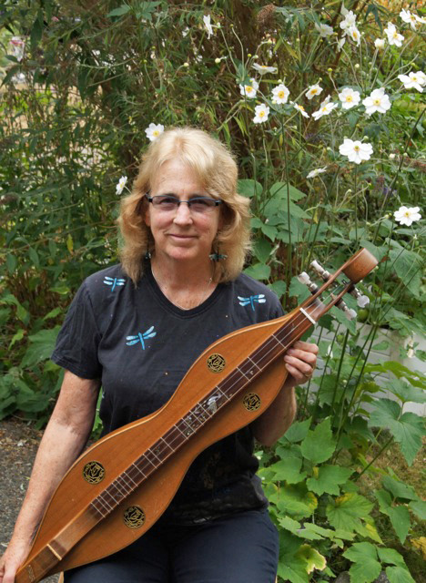 Susan Howell with mountain dulcimer